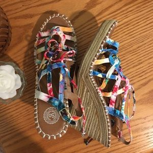 American Heritage Multicolor Lace Up Sandal,  10M